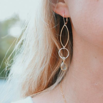 Geo Mixed Metal Earrings are the perfect touch for your beach vacation!