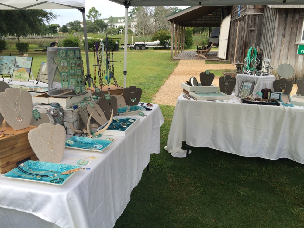 Handmade Jewelry at The Manteo Farmer's Market Every Saturday through October.