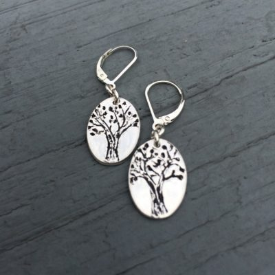 Live Oak Tree Earrings are completely custom and unique to each person who gets them!