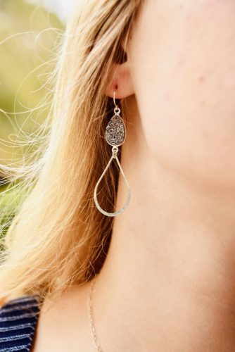 The Druzy Lauren Earring are the perfect day to night look!