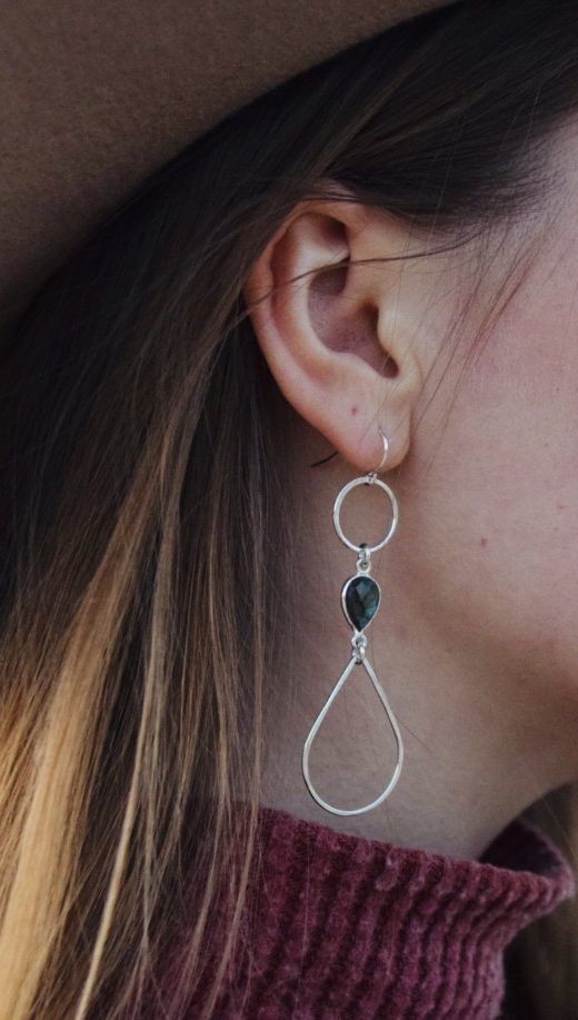 We love Labradorite! If you share our loved these beautiful custom crafted earrings are for you!