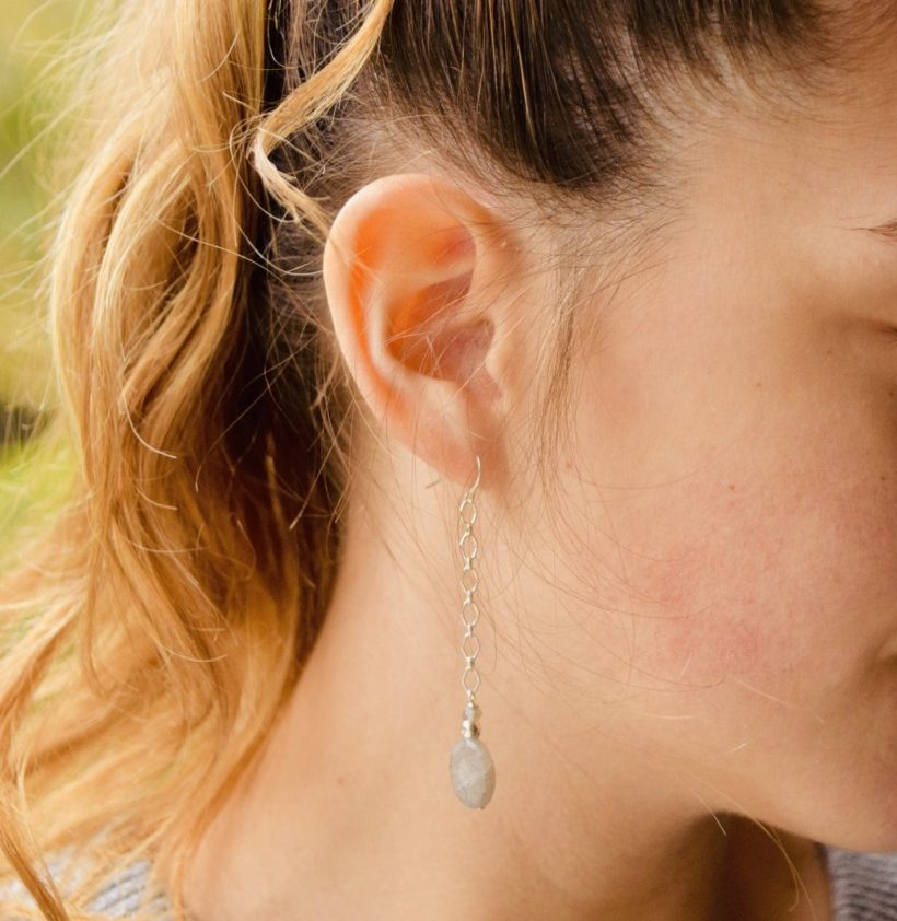 Labradorite Sterling Drop Earrings are so beautiful and yet again inspired by the ocean!