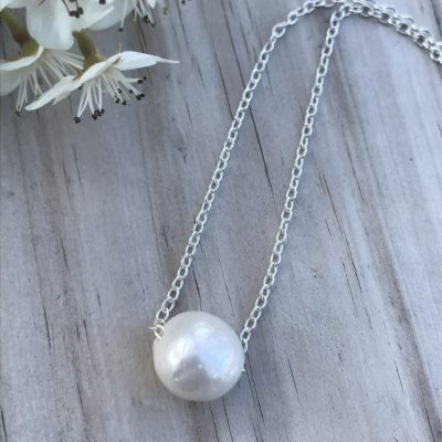 Hand crafted by the ocean from the ocean - A Single Freshwater Pearl Necklace