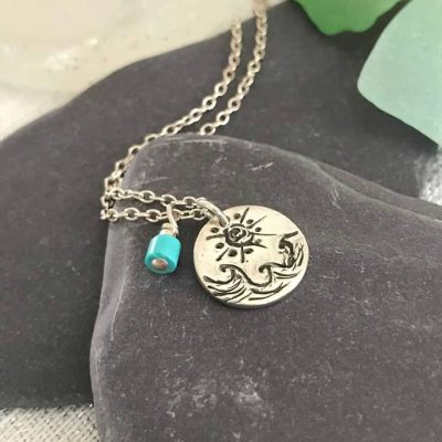 Sun and Sea Necklace Custom made Fine Jewelry
