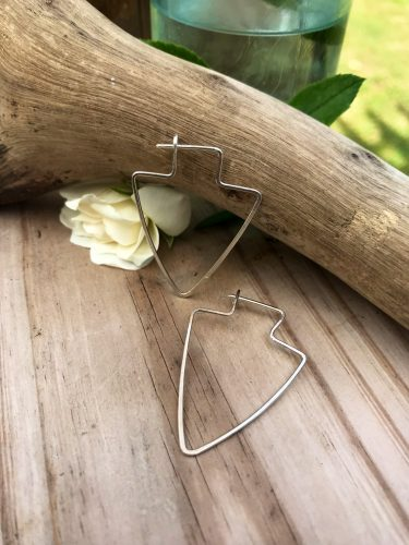 Sterling Silver Arrowhead Earrings, easy wearing and perfect for everyday.