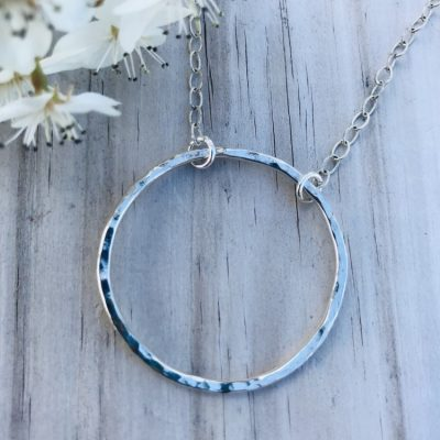 Sterling Silver Infinity Circle Necklace custom crafted by the ocean especially for you!