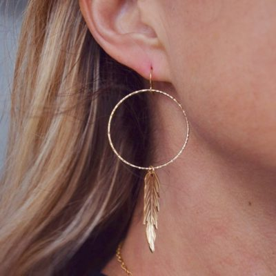 Gold Dream Catcher Earrings are the perfect whimsical look for the beach or office!